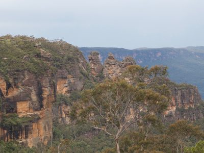 The beautiful 3 Sisters seen from a vantage point we visit